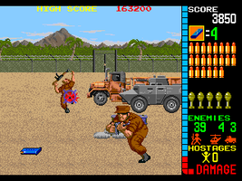 Operation Wolf (World, set 1) - MAME machine